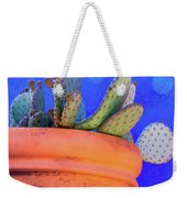 Cactus With Blue Dots Weekender Tote Bag