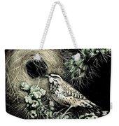 Cactus Wren Weekender Tote Bag