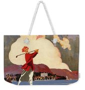 Cadenabbia Tremezzo, Golf And Tennis - Golf Club - Retro Travel Poster - Vintage Poster Weekender Tote Bag
