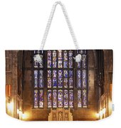 Cadet Chapel With Stained Glass Windows Weekender Tote Bag
