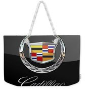 Cadillac - 3 D Badge On Black Weekender Tote Bag