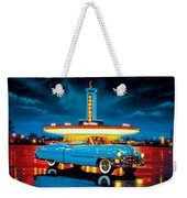 Cadillac Diner Weekender Tote Bag by MGL Studio - Chris Hiett