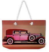 Cadillac V16 Mixed Media Weekender Tote Bag