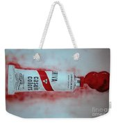 Cadmium Red Weekender Tote Bag