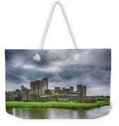 Caerphilly Castle North View 3 Weekender Tote Bag