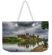 Caerphilly Castle South East View 2 Weekender Tote Bag
