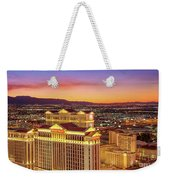 Caesars Palace After Sunset 6 To 3.5 Aspect Ratio Weekender Tote Bag