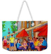 Cafe Casa Grecque Prince Arthur Weekender Tote Bag