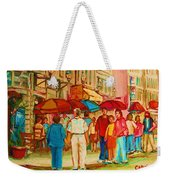 Cafe Crowds Weekender Tote Bag