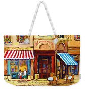 Cafe De Vieux Montreal With Couple Weekender Tote Bag