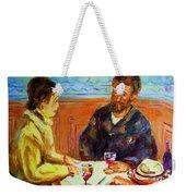 Cafe  Homage  De Pierre Auguste Weekender Tote Bag