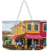 Cafe In Burano Weekender Tote Bag