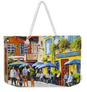 Cafe In The Old Quebec Weekender Tote Bag