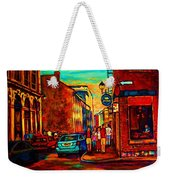 Cafe Le Vieux Port Weekender Tote Bag