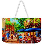 Cafe On Prince Arthur  In Montreal  Weekender Tote Bag