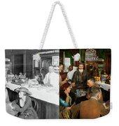 Cafe - Temptations 1915 - Side By Side Weekender Tote Bag