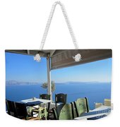 Cafe' With A View Weekender Tote Bag