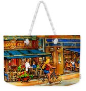 Cafes With Blue Awnings Weekender Tote Bag