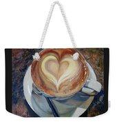 Caffe Vero's Heart Weekender Tote Bag