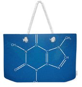 Caffeine Molecular Structure Blueprint Weekender Tote Bag by Nikki Marie Smith