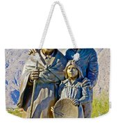Cahuilla Band Of Agua Caliente Indians Sculpture On Tahquitz Canyon Way In Palm Springs-california Weekender Tote Bag