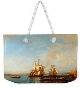 Caiques And Sailboats At The Bosphorus Weekender Tote Bag
