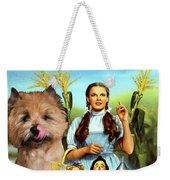 Cairn Terrier Art Canvas Print - The Wizard Of Oz Movie Poster Weekender Tote Bag