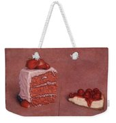 Cakefrontation Weekender Tote Bag by James W Johnson