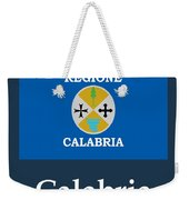 Calabria, Italy Flag And Name Weekender Tote Bag