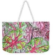 Caladiums Tropical Plant Art Weekender Tote Bag
