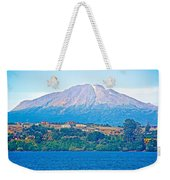 Calbuco Volcano Over Llanquihue Lake From Puerto Varas-chile Weekender Tote Bag