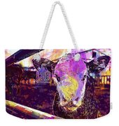 Calf Cow Maverick Farm Animal Farm  Weekender Tote Bag