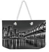 Calgary Peace Bridge Weekender Tote Bag