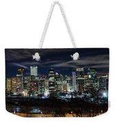 Calgary Skyline At Night Weekender Tote Bag
