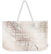 Calgary Street Map Colorful Copper Modern Minimalist Weekender Tote Bag