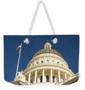California Capitol Cupola And Flag Weekender Tote Bag