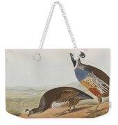 California Partridge Weekender Tote Bag