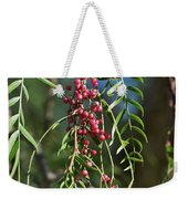 California Pepper Tree Leaves Berries I Weekender Tote Bag