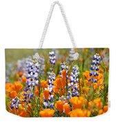 California Poppies And Lupine Wildflowers Weekender Tote Bag