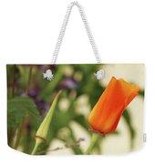 California Poppies In The Garden Weekender Tote Bag