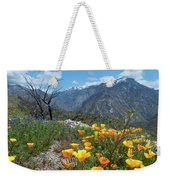 California Poppy And Mountain Panorama Weekender Tote Bag