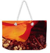 California Poppy And Scallop Shell Weekender Tote Bag