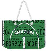 California Route 1 Pacific Coast Highway Sign Recycled Vintage License Plate Art Weekender Tote Bag
