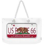 California Route 66 License Plate Weekender Tote Bag