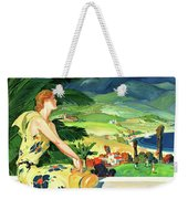 California This Summer Restored Vintage Poster Weekender Tote Bag