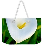 Calla Lily Closeup At Pilgrim Place In Claremont-california Weekender Tote Bag