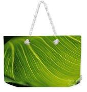 Calla Lily Leaf Weekender Tote Bag