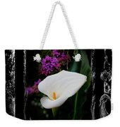 Calla Lily Splash Weekender Tote Bag