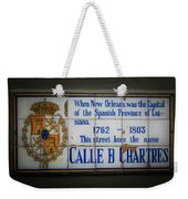 Calle De Chartres Weekender Tote Bag