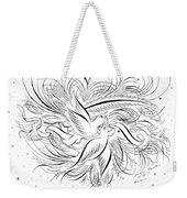 Calligraphic Love Birds Weekender Tote Bag
